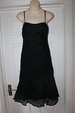 Ladies Black John Rocha Dress Size 10 Wedding Christening Guest Debenhams Design