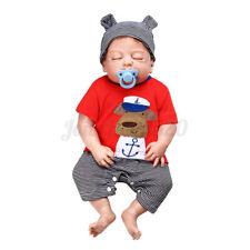 "23"" Handmade Reborn Baby Boy Doll Full Body Silicone Realistic Lifelike Toy Gift"