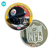 Birthday Souvenir Gifts 999.9 Silver Plated PITTSBURGH STEELERS  NFl Coin