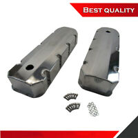 Suit BBC Chevy 454 Fabricated Tall Valve Cover w/ Holes Aluminum Polished