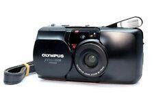[EXC] Olympus μ mju Zoom Panorama Black 35mm Film Camera From JAPAN #210872