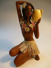 Keramik Figur Südsee Frau Akt Hawaii HulaHula Mädchen Cortendorf Rockabilly 1956