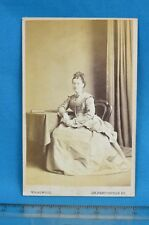 Victorian CDV Photo Carte De Visite Attractive Young Lady W.S. Attwood London