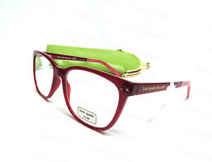 NWT Authentic Kate Spade Joyanne 49MM Red Readers Glasses w Case Strength +2.0