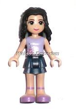 Lego Friends MiniFigure,  EMMA w/Dark Blue Skirt & Lavender Top 3185 3187,  New