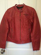 Harley-Davidson Ambition Red Leather Jacket NWT Women's Medium Med M