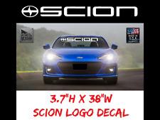 "SCION Windshield Logo Banner Decal 38"" Sticker, race xb tc iq xD Sport, Turbo"