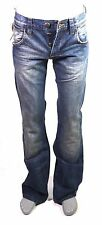 X5-43 Wrangler 6MLB Herren Jeans W27 L34 blau Bootcut Muscle Low Waist Button
