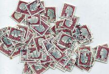 Lot de 100 timbres oblitérés MARIANNE DE DECARIS  année 1960