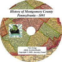 1891 History of MONTGOMERY County Pennsylvania PA
