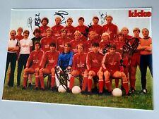 FC BAYERN MÜNCHEN 1981/82 (13 x signiert) signed Foto 20x30 Autogramme