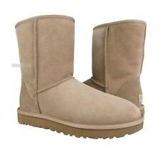 UGG Classic Short II Fawn Suede Fur Boots Size 8 *NIB*