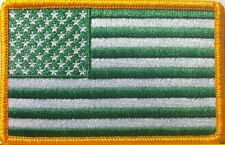 USA Green Flag Patch With VELCRO® Brand Fastener Emblem United States