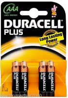 DURACELL MN2400 AAA PLUS POWER  BATTERIES PACK OF 4