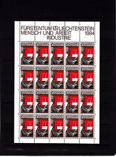 Liechtenstein Series courantes l'homme et le travail 1,2f r feuille 20 TP n° 800