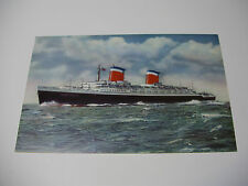 Lot163z SS UNITED STATES Cruise Lines ~ OFFICIAL Postcard - VG Cond