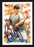 Bill Wegman #261 signed autograph auto 1993 Topps Baseball Trading Card