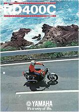YAMAHA Brochure RD400 RD400C 1976 Sales Catalog Catalogue REPRO Seaside Scene