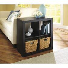Better Homes and Gardens Square 4 Cube Storage Organizer, Bookshelves, Espresso