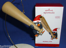 Hallmark Ornament Baseball Star 2013 Penguin with Bat Can Be Personalized NIB