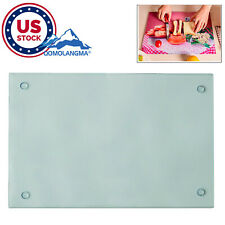 Us 12pc Sublimation Blank Tempered Glass Cutting Board With White Coating Glossy