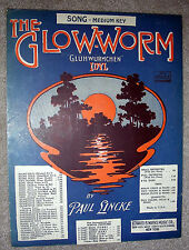 1932 THE GLOW-WORM Sheet Music by Paul Lincke GLUHWURMCHEN Idyl - for MED Voice
