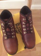DR MARTENS BOOTS TEAK LEATHER STEEL TOE CAP  BOOTS SIZE 8 NEW AND BOXED