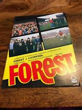 NOTTINGHAM FOREST V LIVERPOOL 1979 EUROPEAN CUP PROGRAMME FREE POSTAGE LOOK
