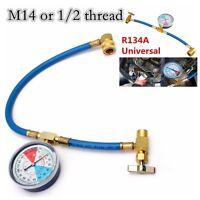 1x A/C R134A Car Air Conditioning Refrigerant Recharge Measuring Hose Gauge Kit