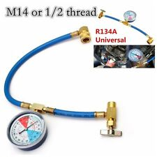 1x A/C R134A Car Air Conditioning Refrigerant Recharge Measuring Hose Gauge Kit