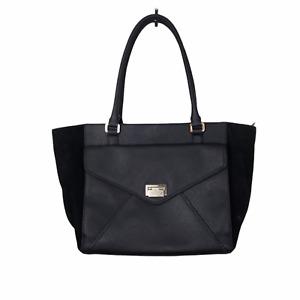 Kate Spade Johanna Wesley black Leather & Suede Black Satchel Tote Bag Purse