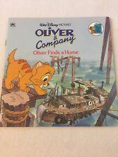 Walt Disney Vintage Oliver And Company Oliver Finds A Home Picture Book