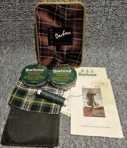 Barbour Classics Jacket Repair Kit Tin Wax Thornproof Dressing 40ml Badge