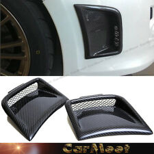 For 08-12 Subaru STI WRX Wagon ONLY Carbon Fiber Bumper Vent Fence Cover 1 Pair