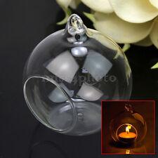 Lanterna Vetro Sfera Trasparente Portacandele Tavolo Decorazione Casa 8,5x7,9cm
