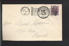 SUNDANCE,WYOMING,1937 COVER TO TEXAS, CROOK CO. 1882/OPEN.