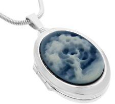 MEDAILLON Anhänger 925 Silber, Amulett mit Achatgemme Lebensbaum (18)