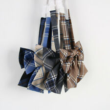Women JK Uniform Lolita Bow Tie Cosplay Cute Neck Tie Check Plaid Japanese Decor