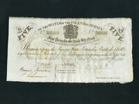 Jersey:P-A1c,5 Pounds,1840 * BRITISH ADMINISTRATION * Reminder * AU *