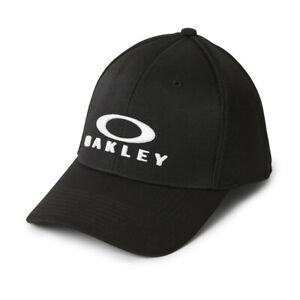 Oakley Men's Mick Jet Black Cap - L/XL A Flex Stretch Fit - Excellent Quality!