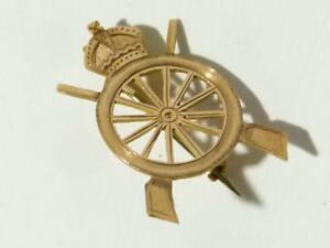 WW1 9ct Gold Sweetheart Brooch Army Cyclists Corp Regiment Pin Badge RARE #V80*