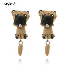 Handmade Polymer Clay Cute Dogs Puppy Earrings Women Animal Ear Stud Jewelry Style 2