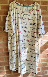 New Winter Dog Winter Nightgown Sleepshirt Sz 2X - 3X Secret Treasures Pockets