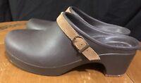 Women's Crocs Sarah Clog Mule Duel Comfort Espresso Brown 20631-206 Size 10 W