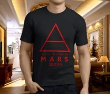 New Popular 30 seconds to mars band Men's Black T-Shirt Size S-3XL