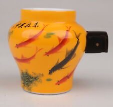 New listing Porcelain Bird Feeder Jar Seed Tank Painting Goldfish Garden Collection