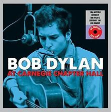 BOB DYLAN At Carnegie Chapter Hall NY 2LP RED VINYL Record 180g Gatefold Edition