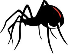 RED BACK Spider Vinyl Decal 150mm