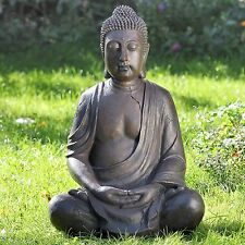 GENIALE BUDDHA SKULPTUR 50cm HÖHE WETTERFEST FENG SHUI FIGUR MODELL NEU