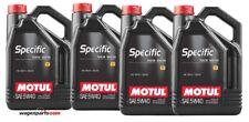 Aceite Motul Specific VW Audi Seat Skoda 50501 50200 50500 5W40, pack 20 litros